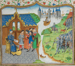 Edmund_of_Langley_remonstrating_with_the_King_of_Portugal_-_Chronique_d'_Angleterre_(Volume_III)_(late_15th_C),_f.186r_-_BL_Royal_MS_14_E_IV